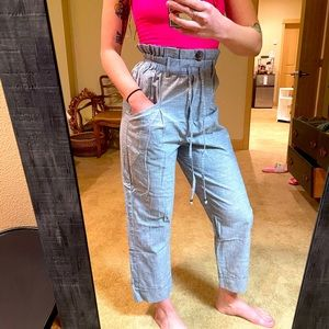 Angie High Waisted Pin Striped Pants NWT